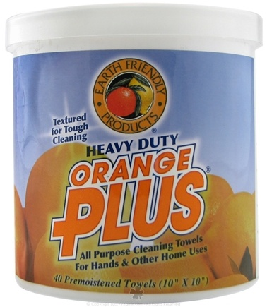 DROPPED: Earth Friendly - Heavy Duty Orange Plus All Purpose Cleaning Towels 10 in. x 10 in. - 40 Towelette(s) CLEARANCE PRICED