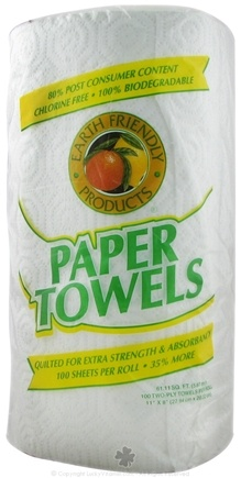 DROPPED: Earth Friendly - Paper Towels 100% Recycled 2-Ply 112 Sheets Extra Strength - 100 Sheet(s)