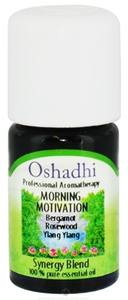 DROPPED: Oshadhi - Professional Aromatherapy Morning Motivation Synergy Blend Essential Oil - 5 ml. CLEARANCE PRICED