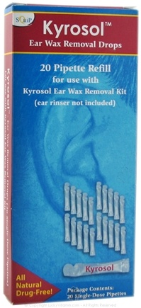 DROPPED: Squip - Kyrosol Ear Wax Removal Drops 20 Pipette Refills - 1 Box(s)