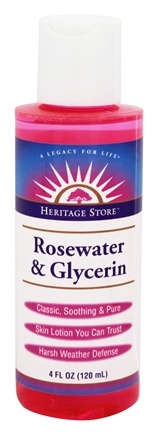 Heritage - Rosewater & Glycerin Skin Lotion - 4 oz.