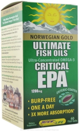 Zoom View - Norwegian Gold Ultimate Fish Oil Critical EPA