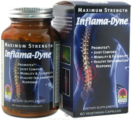 DROPPED: Nature's Answer - Inflama-Dyne Maximum Strength - 60 Vegetarian Capsules
