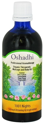 DROPPED: Oshadhi - Professional Aromatherapy Therapeutic Organic Massage And Body Oils 1001 Nights - 100 ml. CLEARANCED PRICED