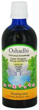 DROPPED: Oshadhi - Professional Aromatherapy Therapeutic Extra Organic Massage Oil Relaxing - 100 ml. CLEARANCE PRICED