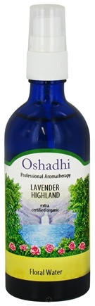 DROPPED: Oshadhi - Professional Aromatherapy Floral Water Organic Highland Lavender - 100 ml. CLEARANCE PRICED