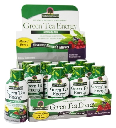 Nature's Answer - Green Tea Energy with Yerba Mate Mixed Berry - 2 fl. oz.