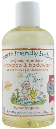 DROPPED: Earth Friendly Baby - Shampoo and Bodywash Organic Mandarin - 8.5 oz. CLEARANCE PRICED