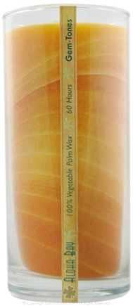Zoom View - Orange Unscented Gemtones Jar Candle