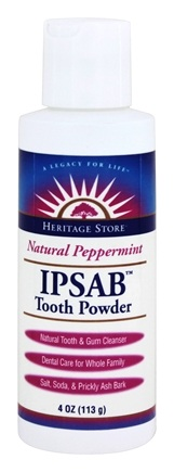 Heritage - IPSAB Tooth Powder Original Peppermint Flavor - 4 oz.