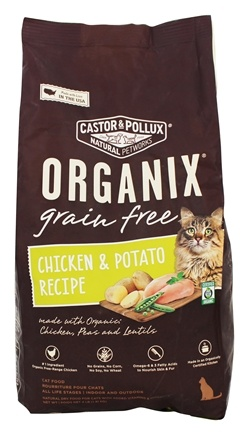 Castor & Pollux - Organix Organic Grain Healthy Indoor Cat Food - 4 lbs.