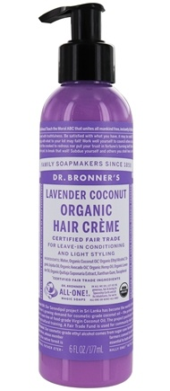 Dr. Bronners - Magic Organic Hair Creme Lavender Coconut - 6 oz.