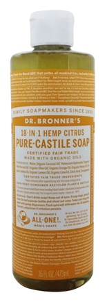 Dr. Bronners - 18-in-1 Hemp Pure Castile Liquid Soap Citrus Orange - 16 fl. oz.