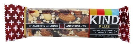 Kind Bar - Plus Antioxidants Nutrition Bar Cranberry Almond with Macadamia Nuts - 1.4 oz.