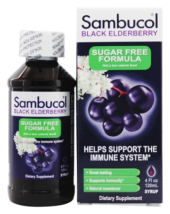 Sambucol - Black Elderberry Liquid Sugar-Free - 4 oz.