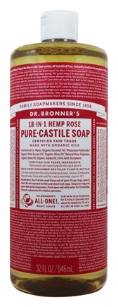 Dr. Bronners - Magic Pure-Castile Soap Organic Rose - 32 oz.