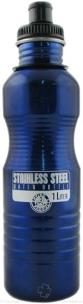 DROPPED: New Wave Enviro Products - Stainless Steel Water Bottle Blue - 1 Liter CLEARANCE PRICED