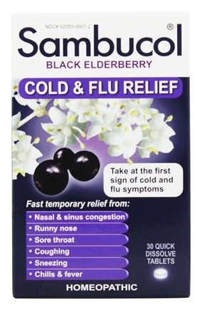 Zoom View - Black Elderberry Cold and Flu Relief