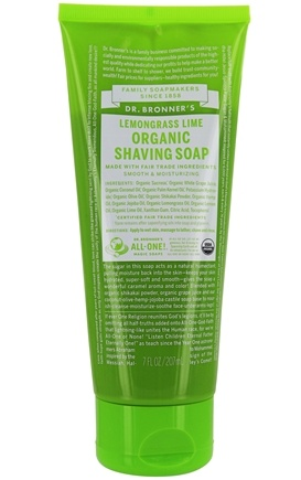 Dr. Bronners - Magic Shaving Soap Gel Organic Lemongrass-Lime - 7 oz.