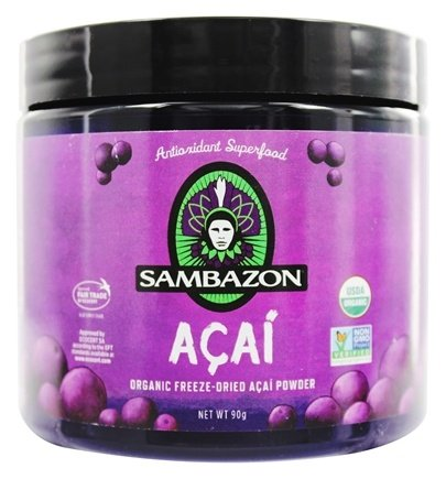 Sambazon - Power Scoop Organic Freeze Dried Acai Powder Drink Mix - 90 Grams