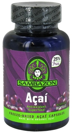DROPPED: Sambazon - Power Caps Freeze Dried Acai Capsules - 75 Capsules