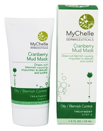 DROPPED: MyChelle Dermaceuticals - Cranberry Mud Mask Treatment for Acne Oily Skin - 1.2 oz.
