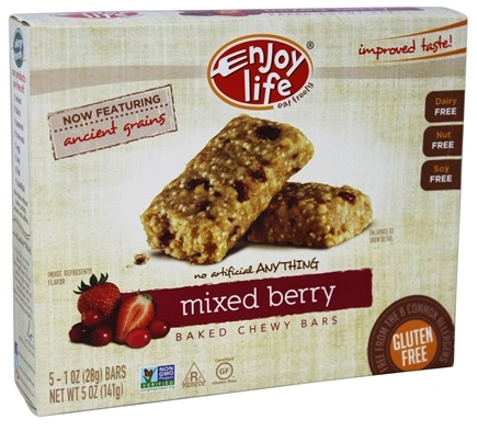 Enjoy Life Foods - Baked Chewy Bars Mixed Berry - 5 Bars