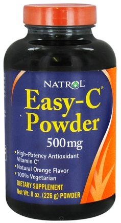 DROPPED: Natrol - Easy-C  Powder Orange Flavor 500 mg. - 8 oz. Formally Vitamins with Bioflavonoids CLEARANCE PRICED