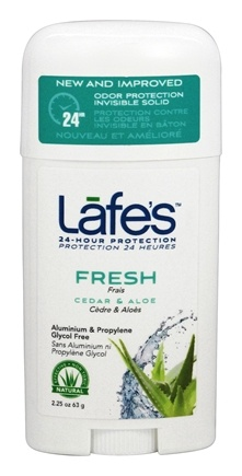 Lafe's - 24-Hour Protection Deodorant Stick Fresh Cedar & Aloe - 2.25 oz.
