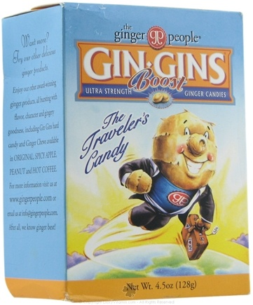 DROPPED: Ginger People - Gin Gins Boost Ultra Strength Ginger Candy - 4.5 oz.