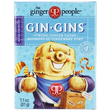 Ginger People - Gin Gins Boost Ultra Strength Ginger Candy Travel Size - 1.1 oz.