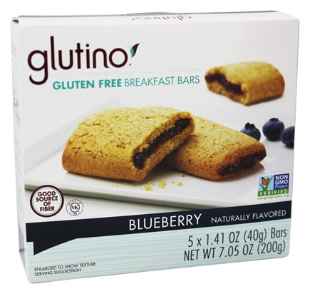 DROPPED: Glutino - Gluten Free Breakfast Bars Blueberry - 5 x 1.41 oz.
