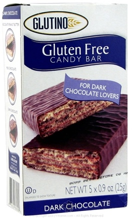 DROPPED: Glutino - Gluten Free Candy Bars Dark Chocolate - 5 Pack