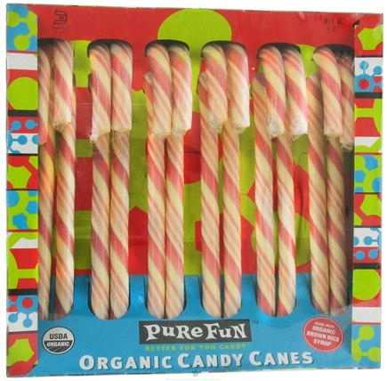 DROPPED: Pure Fun - Organic Candy Canes Peppermint - 6 oz.
