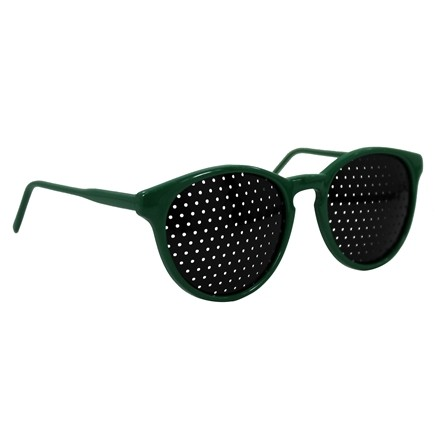 Natural Eyes - Pinhole Glasses Kids Green
