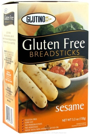 DROPPED: Glutino - Gluten Free Breadsticks Sesame - 5.3 oz.