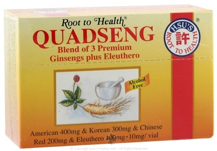DROPPED: Root To Health - Quadseng Ginseng Blend - 10 Vial(s) CLEARANCE PRICED