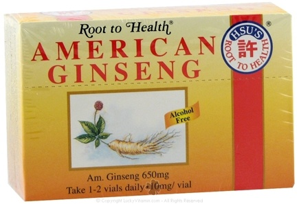 DROPPED: Root To Health - American Ginseng 650 mg. - 10 Vial(s)