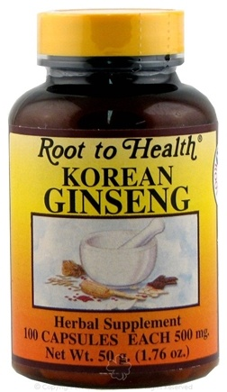 DROPPED: Root To Health - Korean Ginseng Supplemen 500 mg. - 100 Capsules