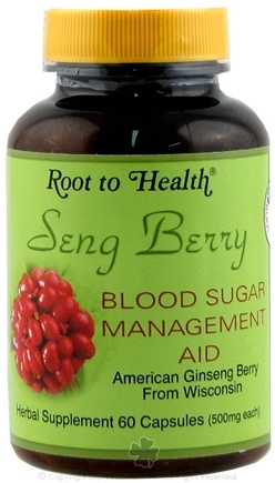 DROPPED: Root To Health - Seng Berry Blood Sugar Management Aid 500 mg. - 60 Capsules