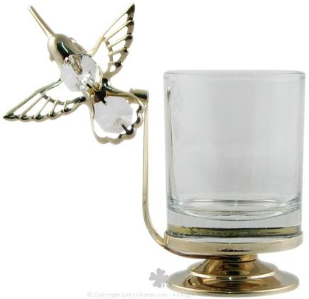 DROPPED: Aloha Bay - Gold Hummingbird Votive Candle Holder - CLEARANCE PRICED