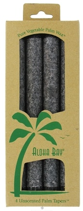 DROPPED: Aloha Bay - Palm Tapers Unscented Candles Charcoal - 4 Pack CLEARANCE PRICED