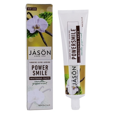 JASON Natural Products - PowerSmile Toothpaste Fluoride Free Vanilla Mint - 6 oz.