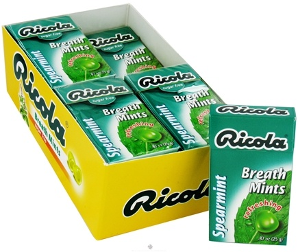 DROPPED: Ricola - Breath Mints Sugar Free Spearmint - 0.88 oz.