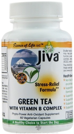DROPPED: Essence of Life - Jiva Green Tea with Vitamin B Complex - 60 Vegetarian Capsules