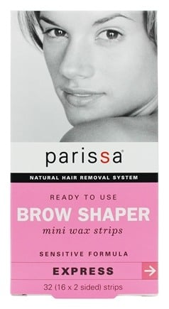 Parissa - Natural Hair Removal System Mini Wax Strips Eyebrow Design - 32 Strip(s)