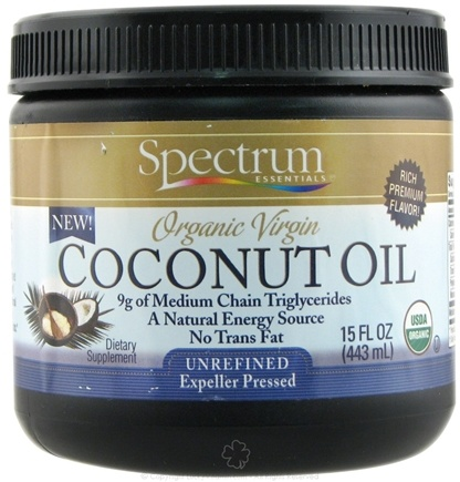 DROPPED: Spectrum Essentials - Organic Virgin Coconut Oil - 15 oz.