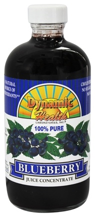 DROPPED: Dynamic Health - Juice Concentrate 100% Pure Blueberry - 8 oz.