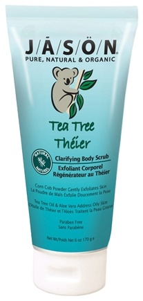 DROPPED: Jason Natural Products - Tea Tree Clarifying Body Scrub - 6 oz. CLEARANCE PRICED