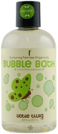 DROPPED: Little Twig - Bubble Bath Organic Extra-Mild Unscented - 8.5 oz.